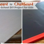Corkboard to Chalkboard DIY Project