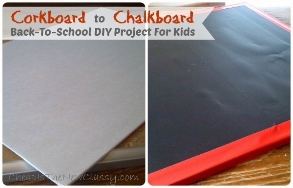 Corkboard to Chalkboard Project - Back-To-School DIY project for kids using Duck Tape