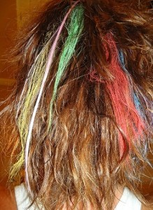 hair chalk is great for coloring your hair temporarily at