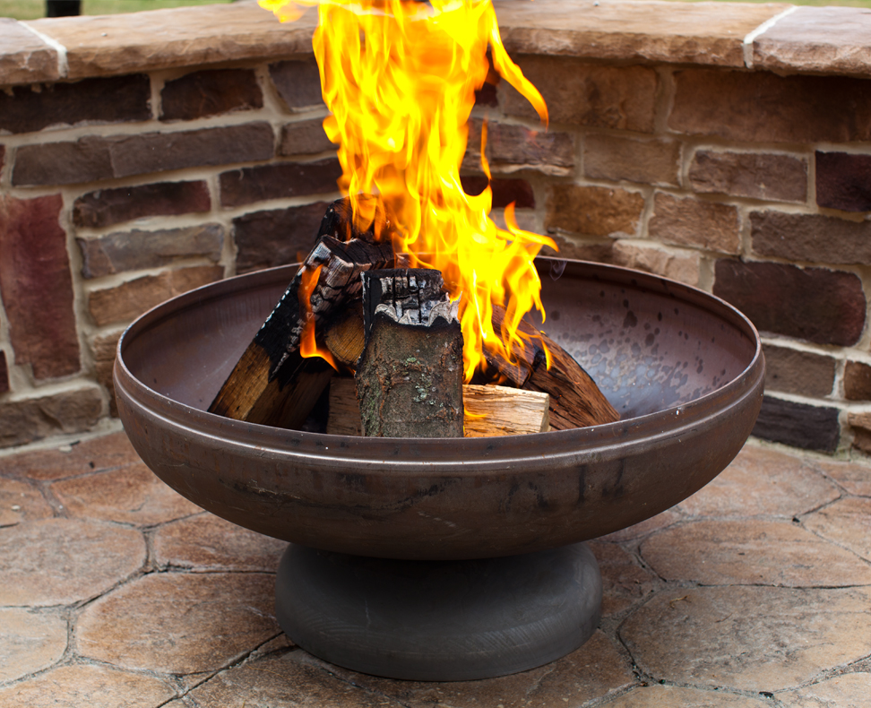 Fire pit from ohio flame looks great in our yard this autumn for Buy outdoor fire pit