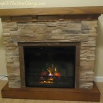 Classic Flame Flagstone Fireplace