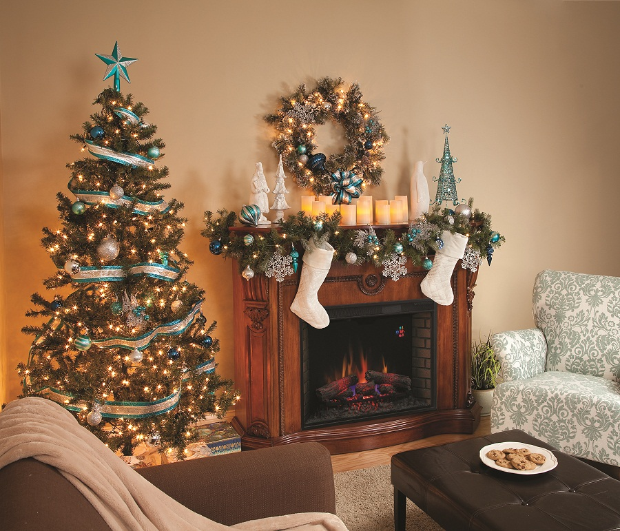 mantel decorating ideas for christmas - Christmas Fireplace Decorating Ideas