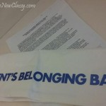 appendicitis patient belonging bag