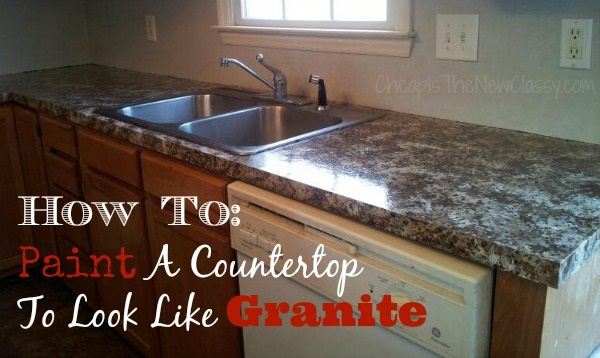 How to paint a countertop to look like granite