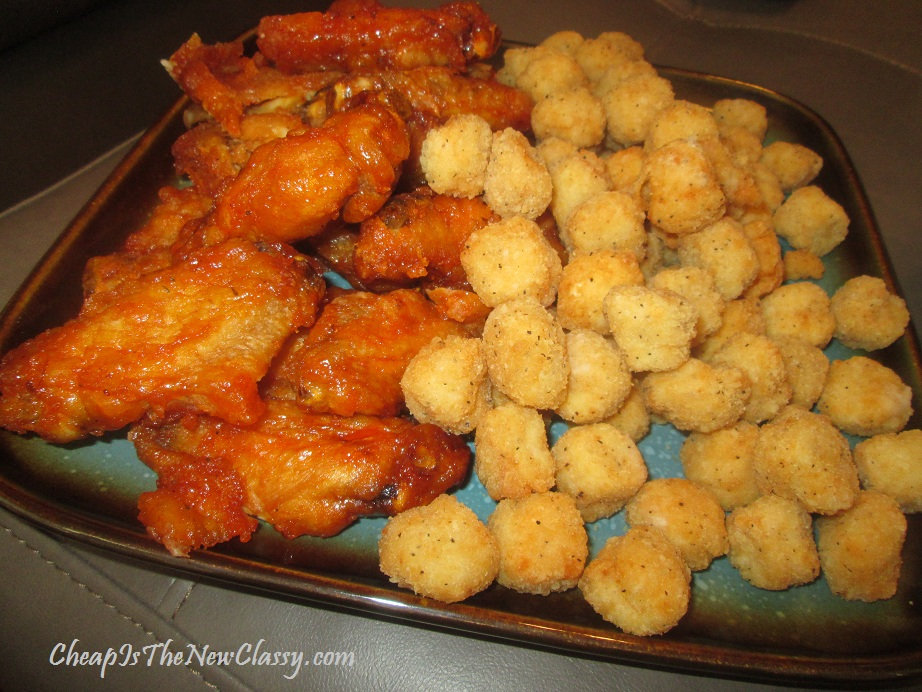 chicken wings and popcorn chicken snack ideas
