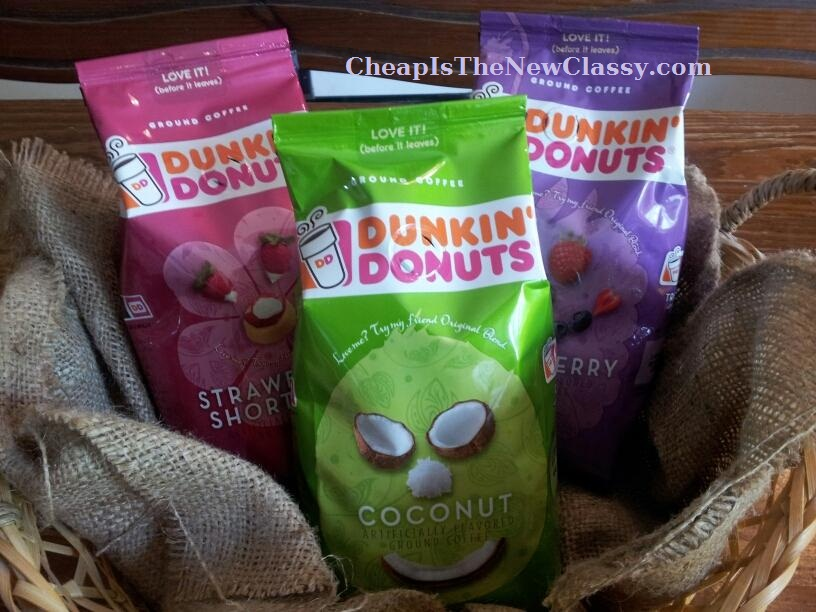 Dunkin Donuts Seasonal Coffee in Strawberry Shortcake, Coconut and Triple Berry