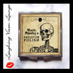 Uncle Spooky's Skeleton polish compact mirror from Laughing Vixen Lounge #sponsored