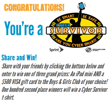 Cyber Safe Futures Cyber Survivor Challenge Cyber Bullying Internet Safety Tips
