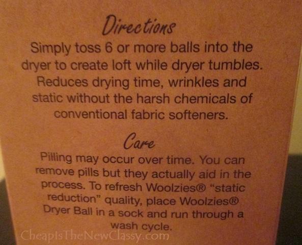 woolzies dryer balls directions