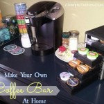 DIY Self Serve Coffee Bar Storage and Organization Project