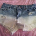 How To Make Dip Dyed Distressed Ombre Shorts For Around $5