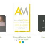 Minted.com business cards