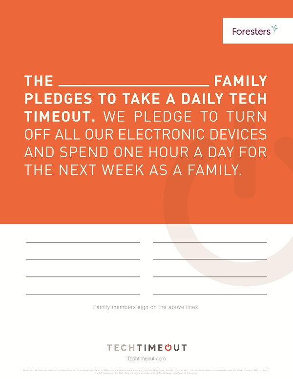 Take the Tech Timeout Pledge