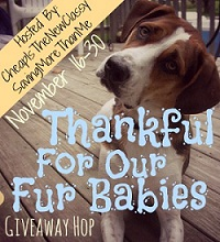 Thankful For Our Fur Babies Hop Hosted by Cheap Is The New Classy and Saving More Than Me {11/16-11/30}