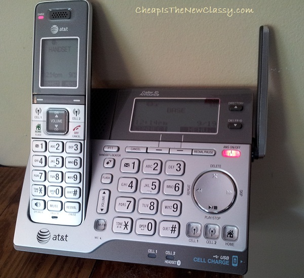AT&T 3 Handset Connect 2 Cell Telephone Answering Landline Phone System