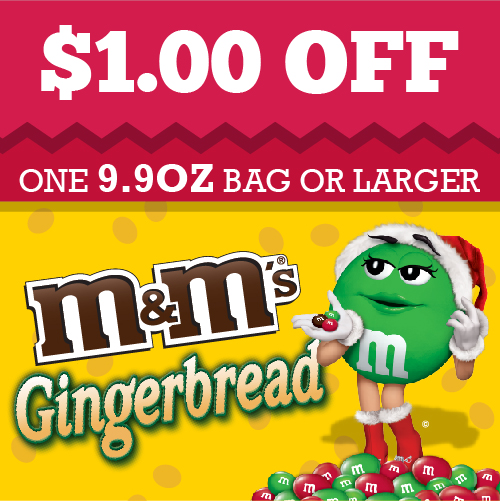 $1 Off Gingerbread M&Ms Coupon