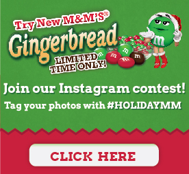 M&Ms Gingerbread Instagram Contest