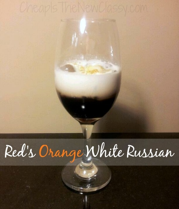 Red's Orange White Russian Recipe created by Curtis Stone and inspired by Red from the Netflix original series, Orange Is The New Black