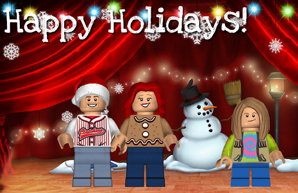 Learn how to create your own Lego Minifigure Family for the holidays #sponsored