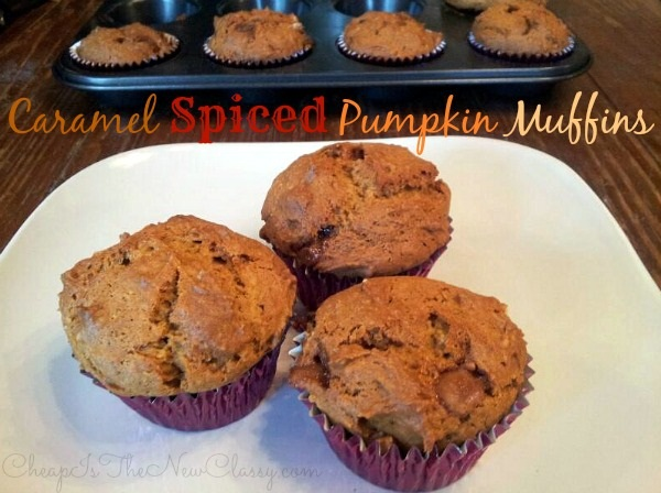 Caramel Spiced Pumpkin Muffins Recipe #shop #sponsored #cbias #staroliveoil