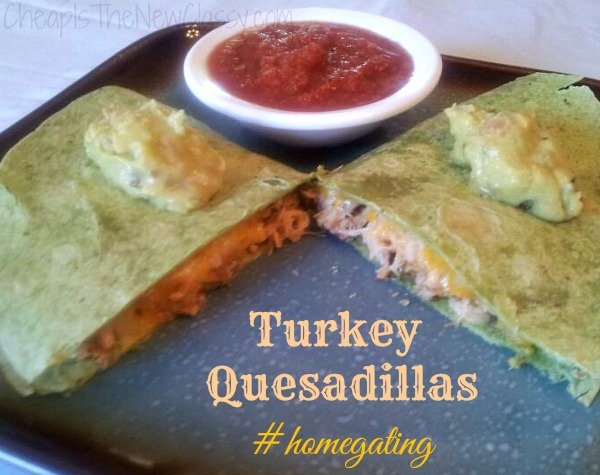 Leftover Turkey Idea: Turkey Quesadilla Recipe with Wholly Guacamole and Wholly Salsa #sponsored #homegating