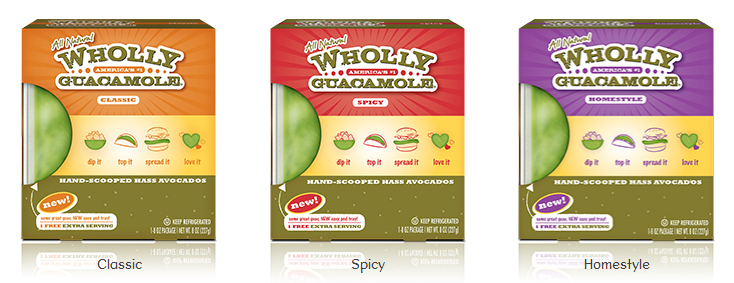 Wholly Guacamole Flavors