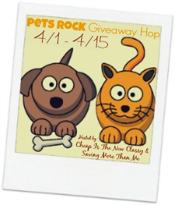 Signups are open for the Pets Rock Giveaway Hop which will run 4/1 - 4/15 and feature a ton of prizes to win valued at $25 or higher. #petsrock