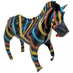 Handmade Colorful Tin Zebra from Zimbabwe available from GlobeIn #sponsored