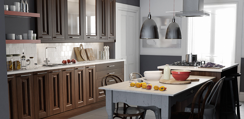 Classic Aida Walnut Kitchen at Wren Living #sponsored