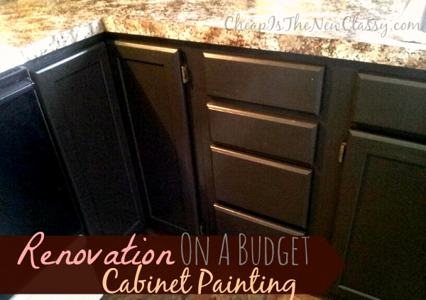 Want to change your kitchen cabinets but you don't have much cash or time? Check out what we did with a Nuvo cabinet paint kit in just a few hours. #sponsored