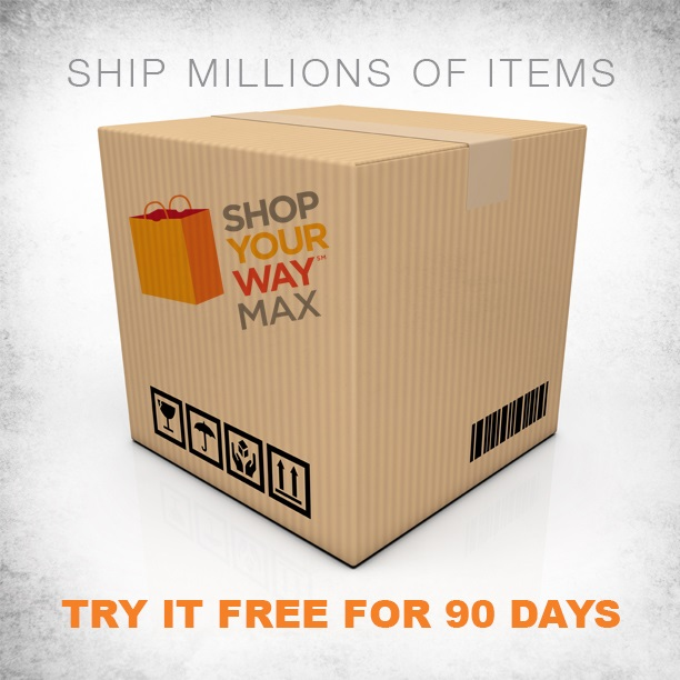 Try Shop Your Way Max at Sears and Kmart free for 90 days. #ad
