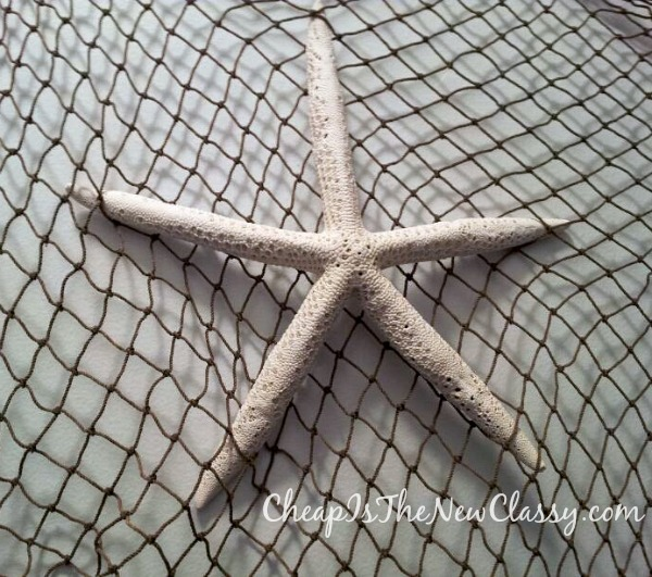 Easy decorating with starfish - create a wall hanging for about $30
