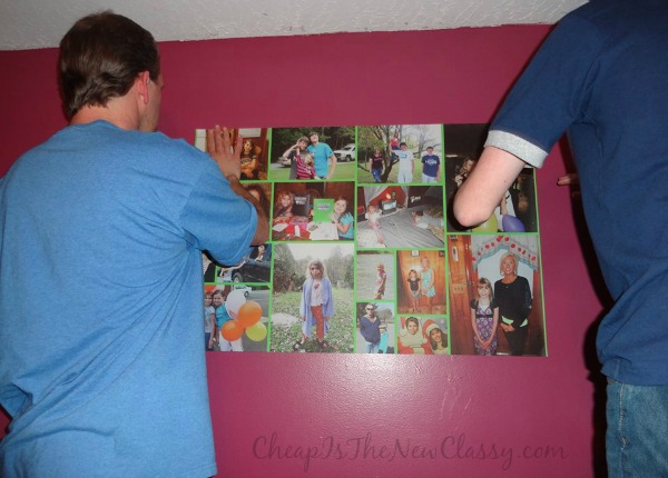 Create custom and removable photo art for your wall with WeMontage #sponsored