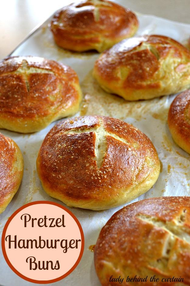 10 Fun Recipes with Pretzels for National Pretzel Day on April 26th: Pretzel Hamburger Buns