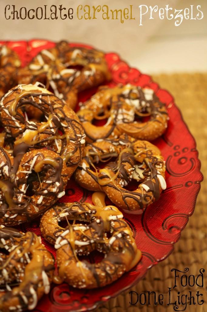 10 Fun Recipes with Pretzels for National Pretzel Day on April 26th: Chocolate Caramel Pretzels
