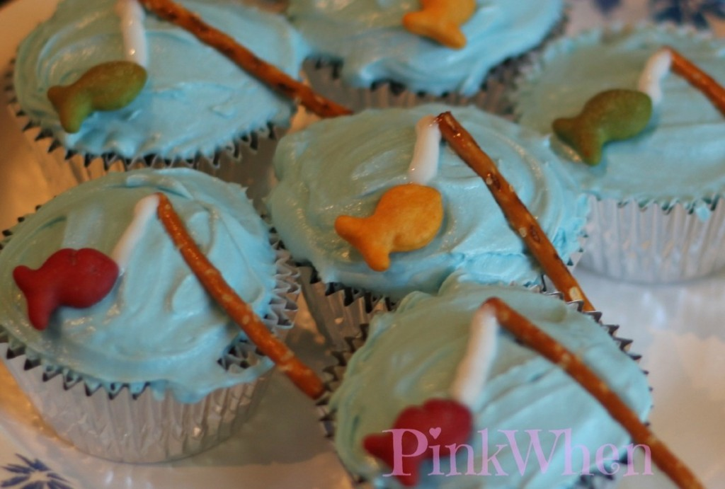 10 Fun Recipes with Pretzels for National Pretzel Day on April 26th: Fishing Cupcakes