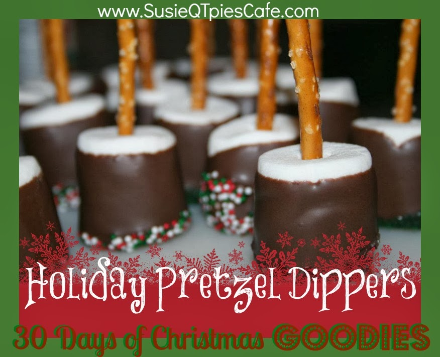 10 Fun Recipes with Pretzels for National Pretzel Day on April 26th: Holiday Pretzel Dippers