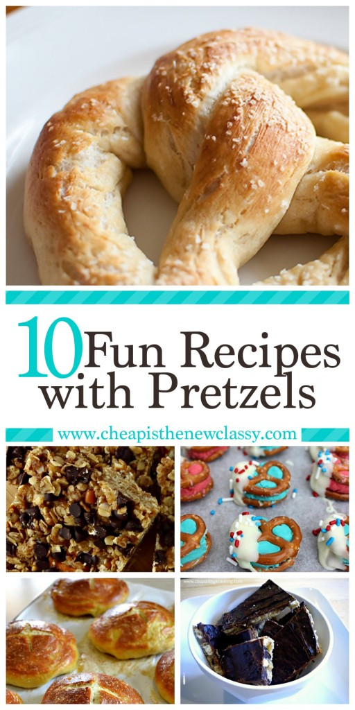 10 Fun Recipes with Pretzels for National Pretzel Day on April 26th