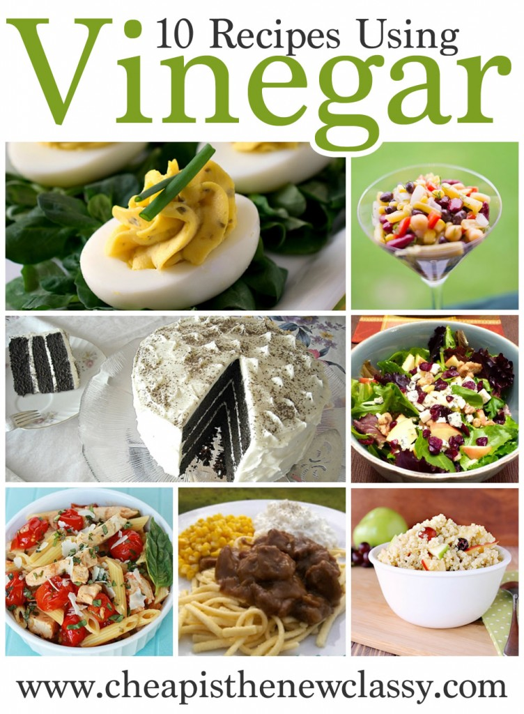 May is National Vinegar Month. Celebrate with these 10 recipes with vinegar.