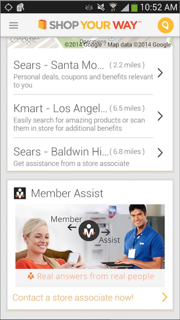 Shop Your Way Member Assist provides real time shopping advice through their website and mobile app. #ad