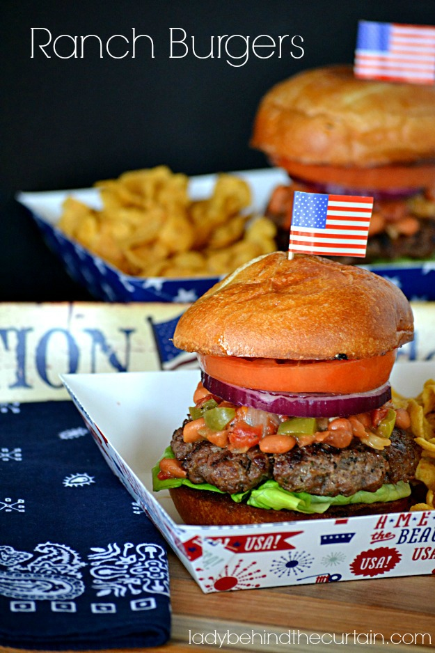 Ranch Burger: 10 Best Hamburger Recipes for Labor Day, 4th of July and Hamburger Day | Cheap Is The New Classy