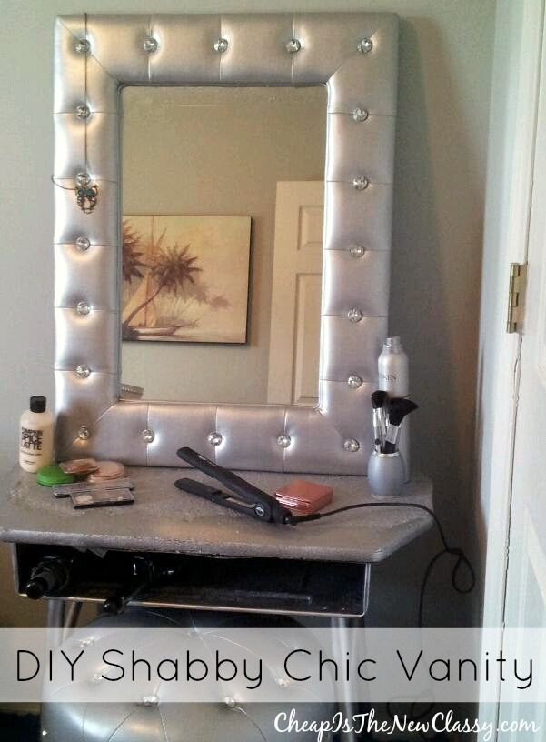 diy vanity light mirror. Shabby Chic DIY Vanity Tutorial  sponsored Cheap Is The New Classy
