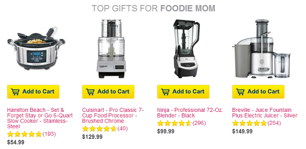 Mother's Day gift ideas for the foodie mom #sponsored