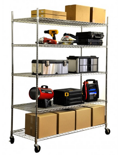 3,000 Pound Capacity Heavy Duty Storage Shelves from Trinity #sponsored