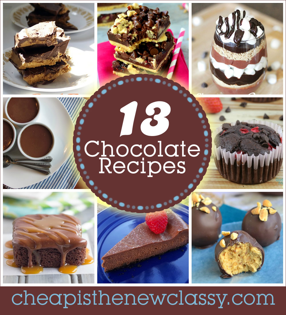 13 Decadent Recipes With Chocolate to celebrate National Chocolate Day on December 28th | Cheap Is The New Classy