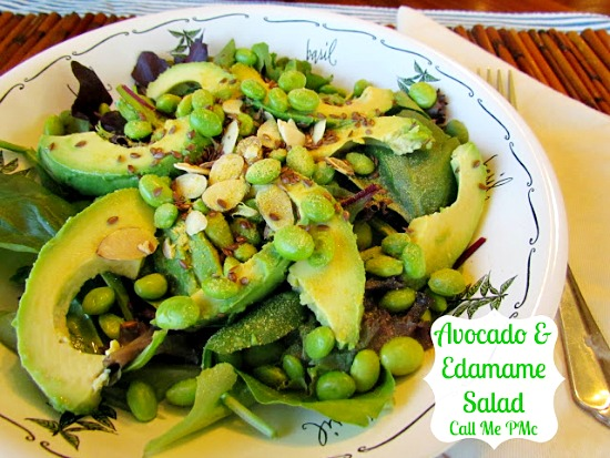 Avocado and Edamame Salad: 10 Delicious Recipes With Veggies for Eat Your Veggies Day {Eat Your Vegetables Day} from Cheap Is The New Classy