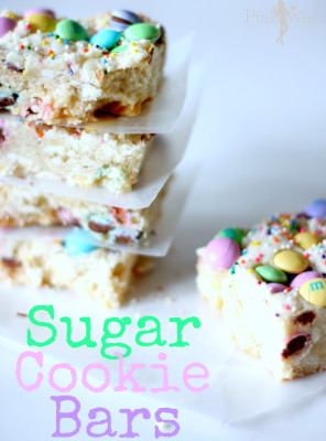 Sugar Cookie Bars: 10 Yummy Sugar Cookie Recipes to celebrate National Sugar Cookie Day on July 9th | Cheap Is The New Classy