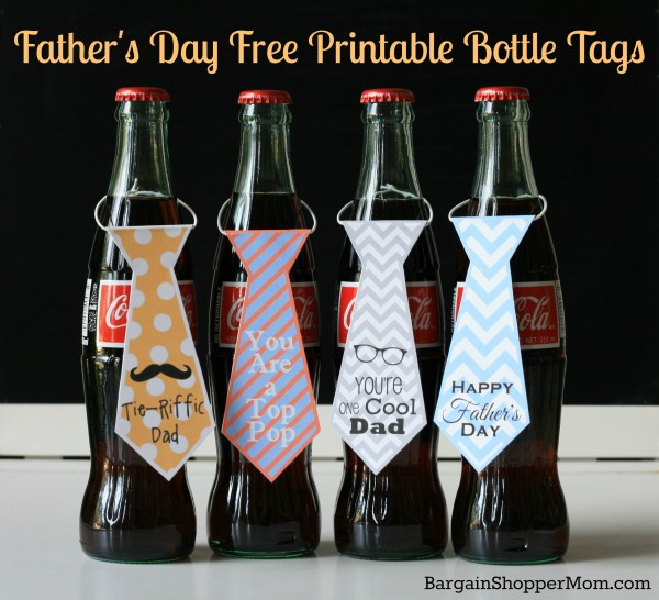 Necktie Bottle Tags and Cupcake Toppers: 12 Free Father's Day Printables | Cheap Is The New Classy