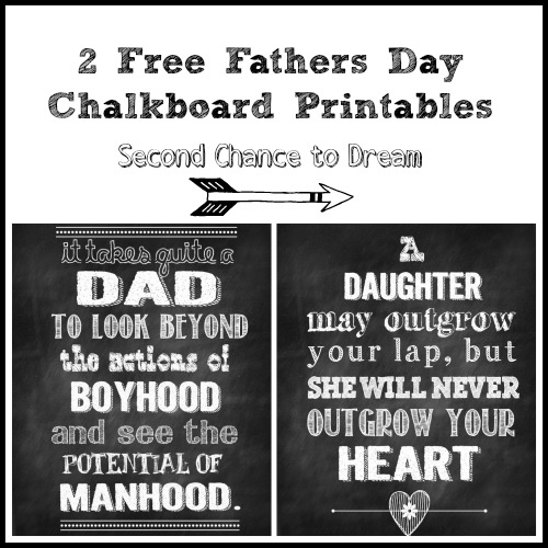 Father's Day Chalkboard Printables: 12 Free Father's Day Printables ...
