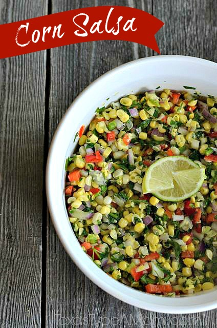 Fresh Corn Salsa: 10 Delicious Recipes With Veggies for Eat Your Veggies Day {Eat Your Vegetables Day} from Cheap Is The New Classy